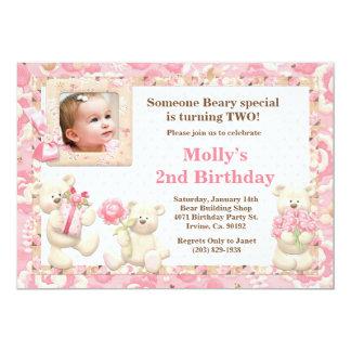 Teddy Bear Birthday Party Invitation