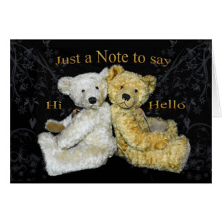 Teddy Bear Blank Note Card