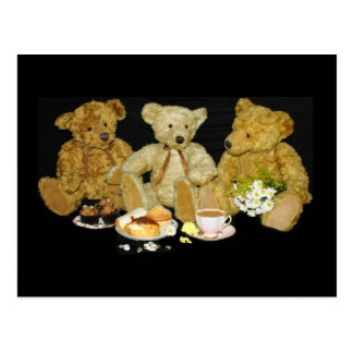Teddy Bear Blank Poste Card