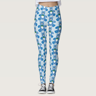 Teddy Bear Blue Leggings