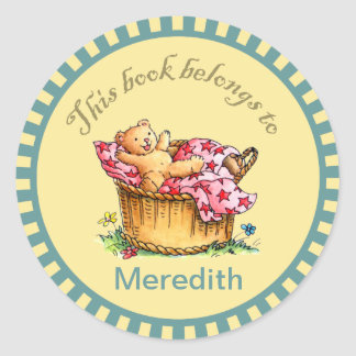 Teddy Bear Book Stickers