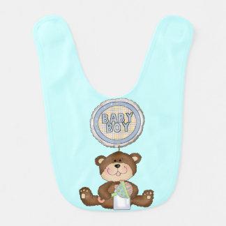 Teddy Bear Boy Blue Bibs