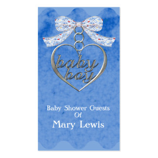 Teddy Bear Charm Boy Blue Baby Shower Pack Of Standard Business Cards