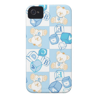Teddy bear checked pattern iPhone 4 Case-Mate cases