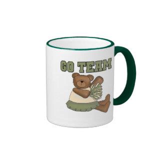 Teddy Bear Cheerleader Green T-shirts and Gifts Mug