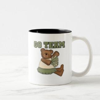 Teddy Bear Cheerleader Green T-shirts and Gifts Mugs