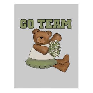 Teddy Bear Cheerleader Green T-shirts and Gifts Postcard