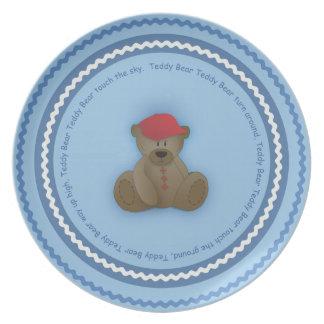 Teddy Bear Child's Plate