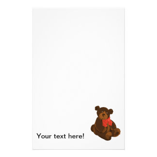 Teddy bear clipart customized stationery