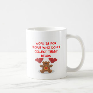 teddy bear collector coffee mug