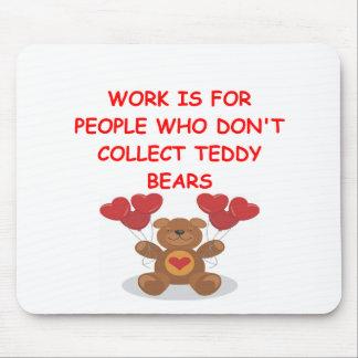 teddy bear collector mouse pad