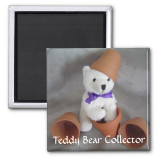 Teddy Bear Collector Square Magnet