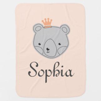 Teddy Bear Crown Buggy Blankets