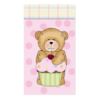 Teddy Bear Cupcake Party Pack Of Standard Business Cards