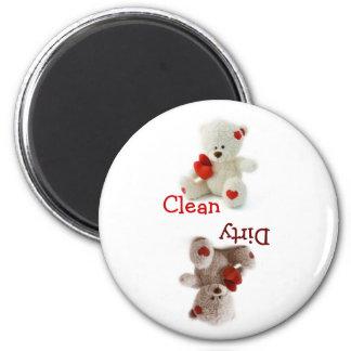 Teddy Bear Dirty Clean Magnet