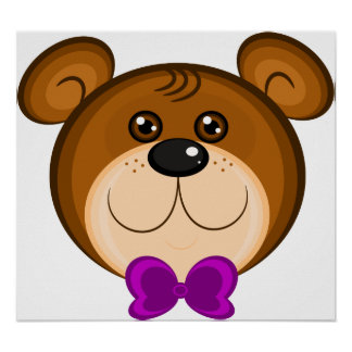 Teddy Bear Face Poster