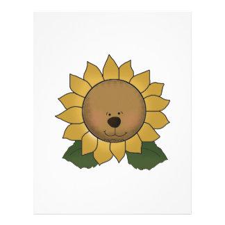 Teddy Bear Face Sunflower Custom Flyer