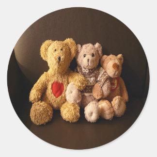Teddy Bear Family Classic Round Sticker