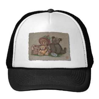 Teddy Bear Family Mesh Hat