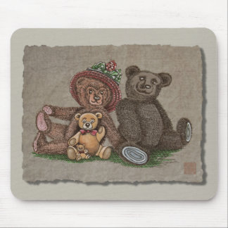 Teddy Bear Family Mouse Pads