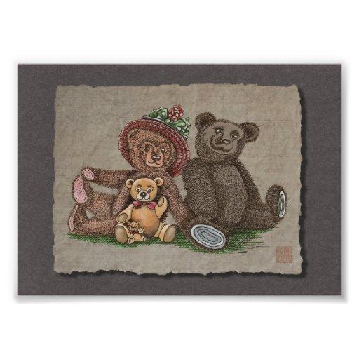 Teddy Bear Family Photo Print