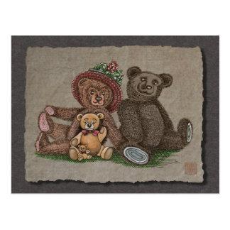 Teddy Bear Family Post Card