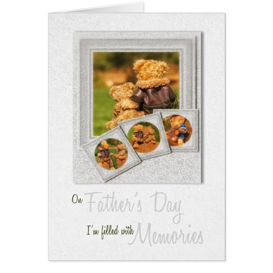 Teddy Bear Father and Son Father's Day Card