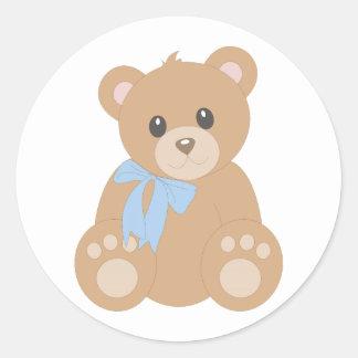"""""""Teddy Bear"""" for Boys Round Sticker"""