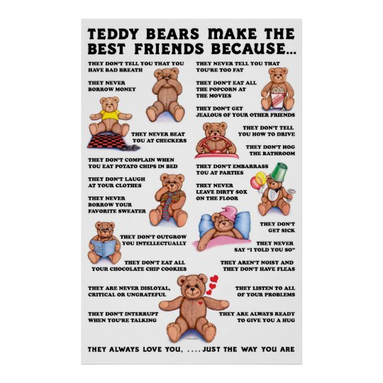 Teddy Bear Friends Poster