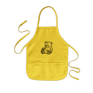 Teddy bear from the attic aprons