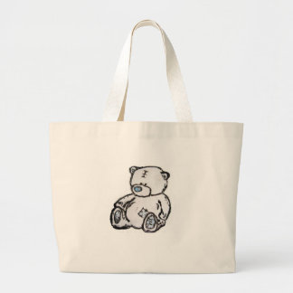Teddy bear from the attic large tote bag