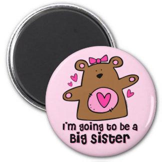Teddy Bear Future Big Sister Magnet