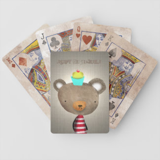 Teddy Bear Game Bicycle Playing Cards