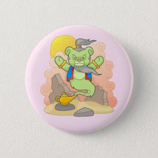 Teddy bear genie 6 cm round badge