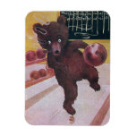 Teddy Bear Goes Bowling Magnet