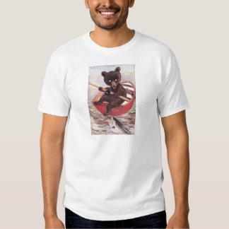 Teddy Bear Goes Fishing Tshirts