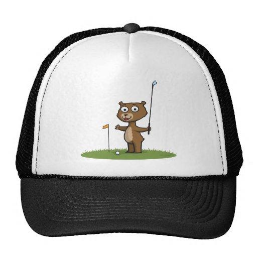 Teddy Bear Golf Mesh Hat