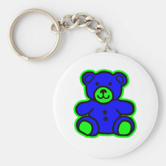 Teddy Bear Green Blue The MUSEUM Zazzle Gifts Key Chains