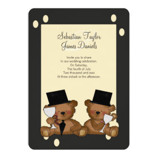 Teddy Bear Grooms Wedding Card