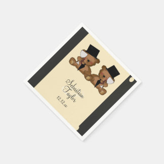 Teddy Bear Grooms Wedding Paper Napkins
