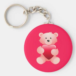 Teddy Bear Holding a Heart Key Chains