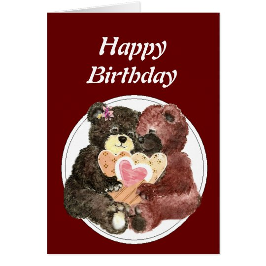 Teddy Bear I love Heart You Card