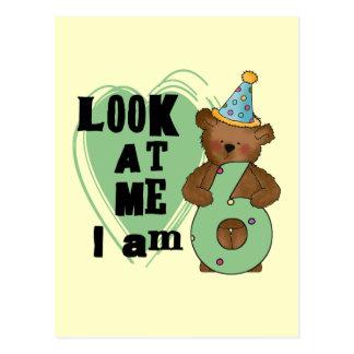 Teddy Bear I'm 6 Birthday T-shirts and Gifts Postcard