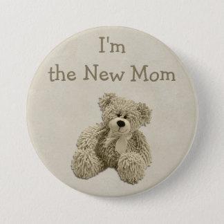 Teddy Bear I'm the New Mom Baby Shower 7.5 Cm Round Badge