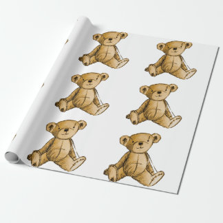 Teddy Bear image for Matte-Wrapping-Paper Wrapping Paper