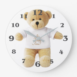 Teddy Bear image for Round (Large) Wall Clock
