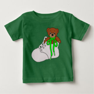 Teddy Bear in Baby Shoe Baby T-Shirt