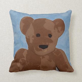 Teddy Bear in Blue Cushion