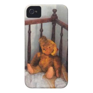 Teddy Bear in Crib iPhone 4 Cover