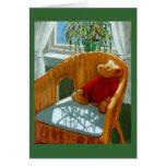 TEDDY BEAR IN PASTEL: ART GREETING CARD